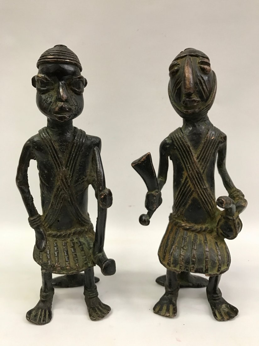Pair of Bronze Chad Statue