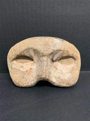 Carved Wood Paper Mache Mold Face Mask