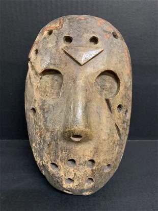 Carved Wood Paper Mache Mold Mask Sculpture
