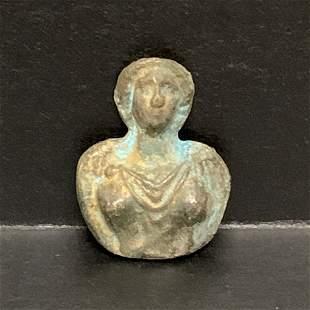 Roman Style Bronze Lady Bust Sculpture