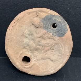 Roman Style Terra Cotta Oil Lamp