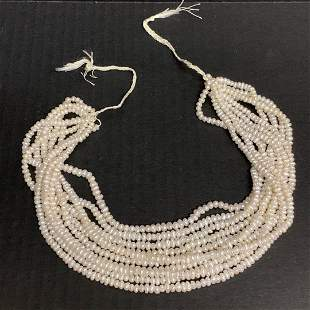 Asian Freshwater Cultured Pearl Necklace 10 Pcs. Strand