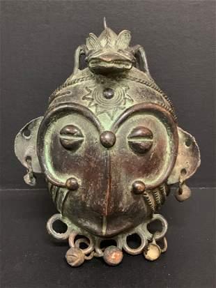 Bamileke Bronze Mask