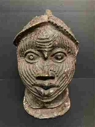 Bronze Benin Oba Head