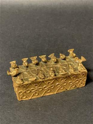 African Art Ashanti Bronze Box