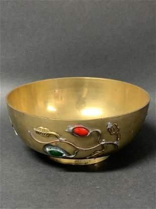 Tibetan Art Bronze Singing Bowl