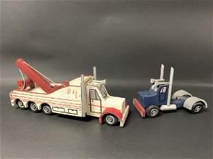 American Wooden Folk Art Toy Painted Trucks