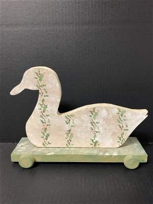 American Wooden Folk Art Painted Duck