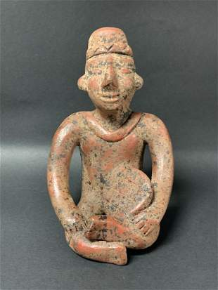 Vintage Pre Columbian Style Pottery Statue