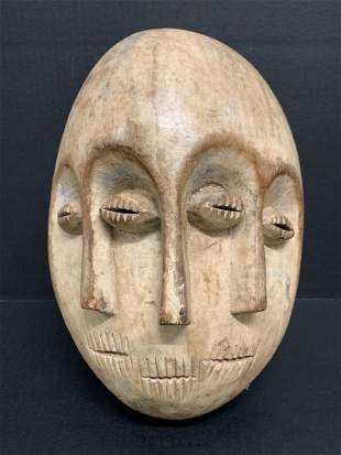 African Art Triple Face Lega Mask