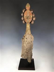 Rare Large Bakota Reliquary Guardian Statue