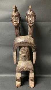 Mumuye Double Head Statue