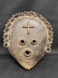 Rare Large Bronze Lega Mask