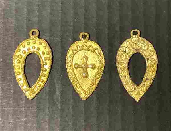 Ashanti Bronze Pendant 3 pieces