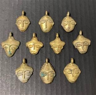 Ashanti Bronze Pendant 10 pieces