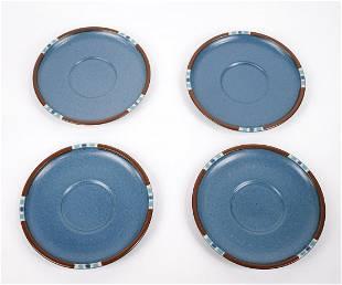 Set of 4 Mesa Dansk Designed Ceramic Plates MESA Dishes