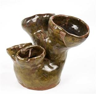 Steve Kivitz Coral Glazed Ceramic Pottery Coral-like
