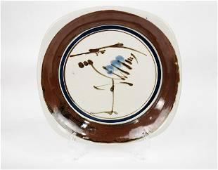 Dansk Glazed Patter Ceramic Serving Plate Designed and