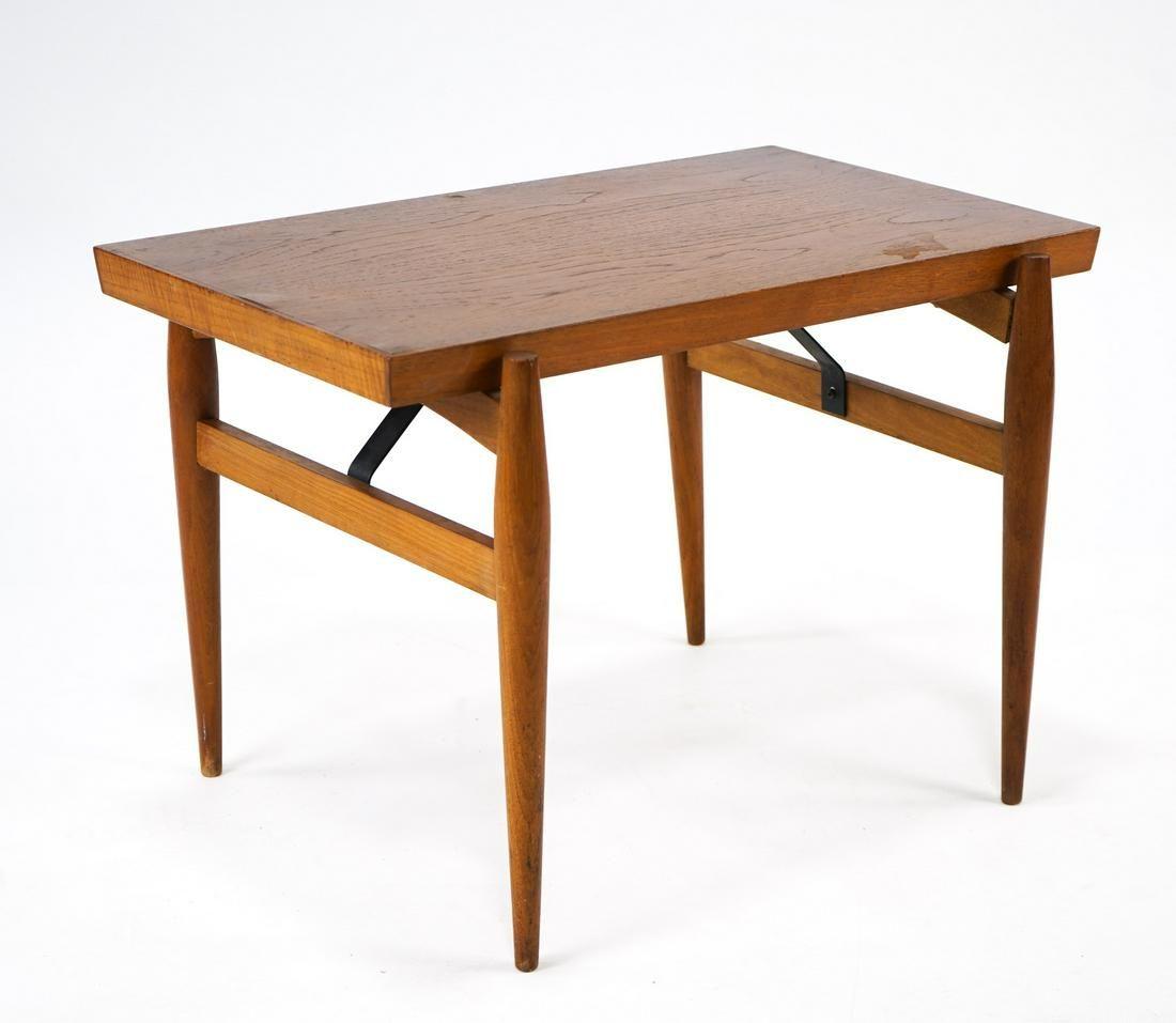 Danish Teak MCM Coffee Table w Sculptural Legs In good