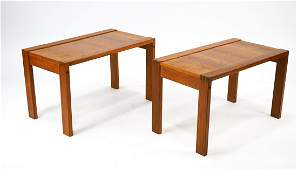 Pair of MCM Danish Teak End Tables In good condition,