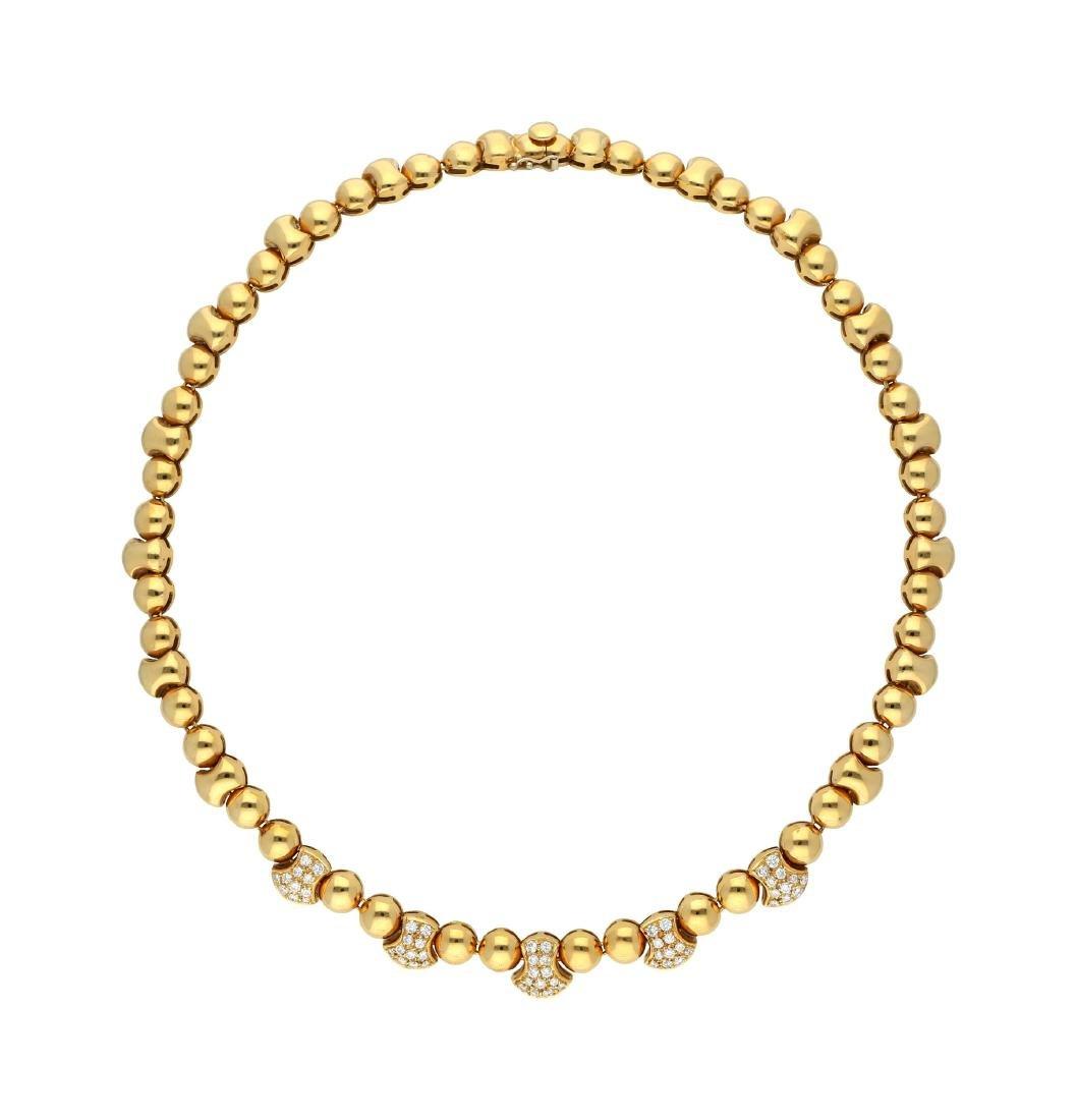 Diamant-Set, bestehend aus Collier und  Bracelet, ...