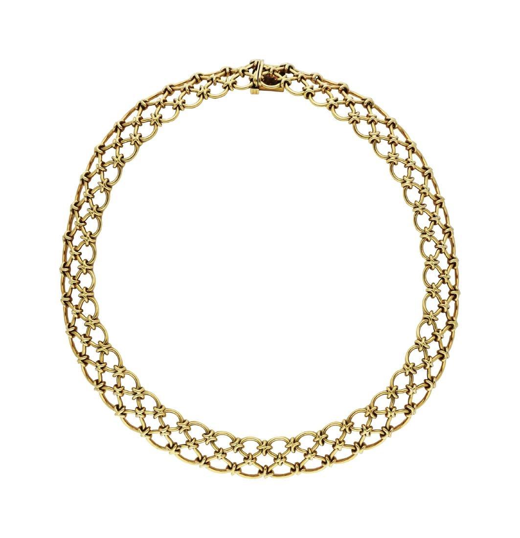 Gold-Set, bestehend aus Collier und Bracelet, ...