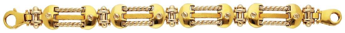 Gold Bracelet, sehr dekorativ, in Gelbgold 18K, 4 ...