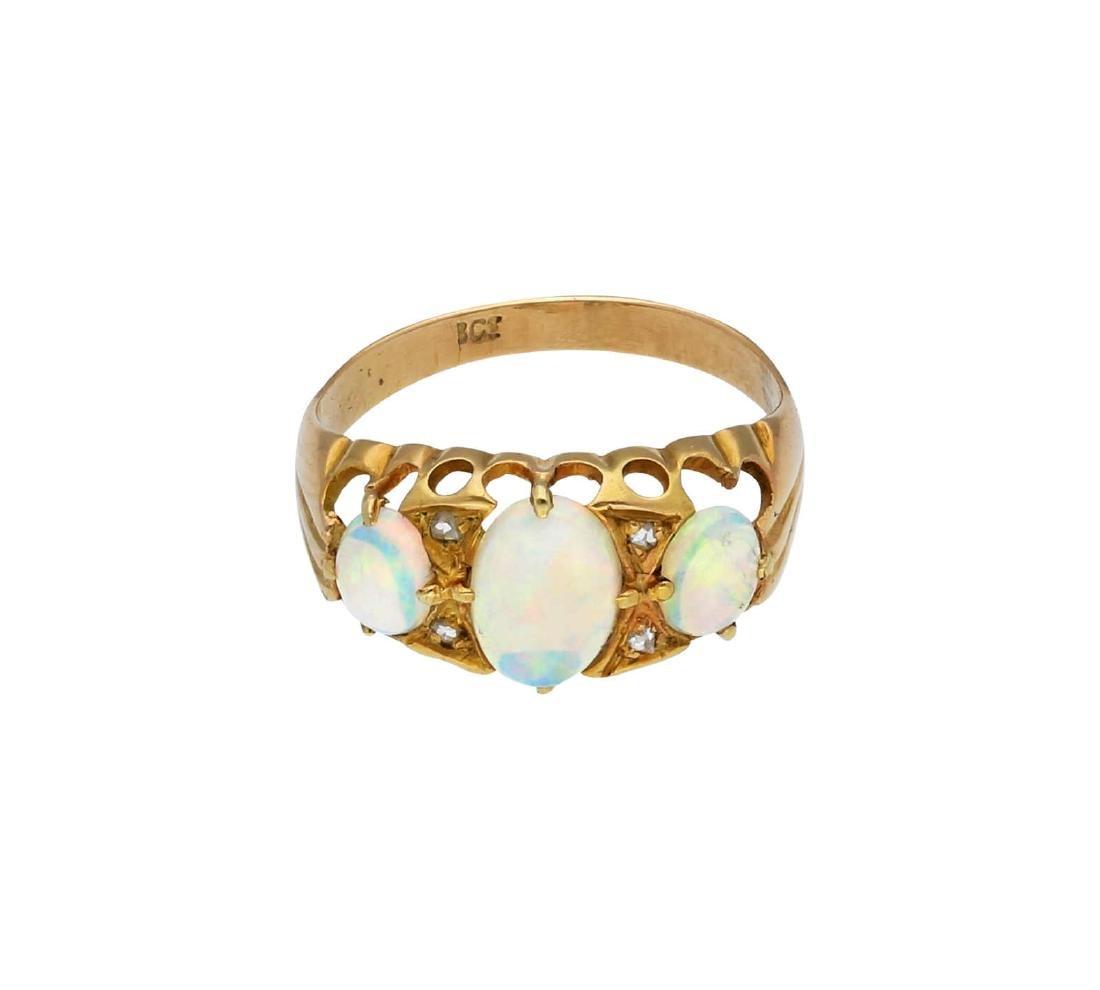 Opal Diamant Set, bestehend aus Ring und ...