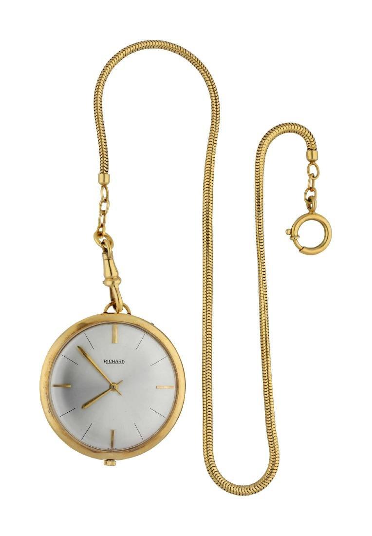 RICHARD Taschenuhr, elegant, Durchmesser 40 mm, ...
