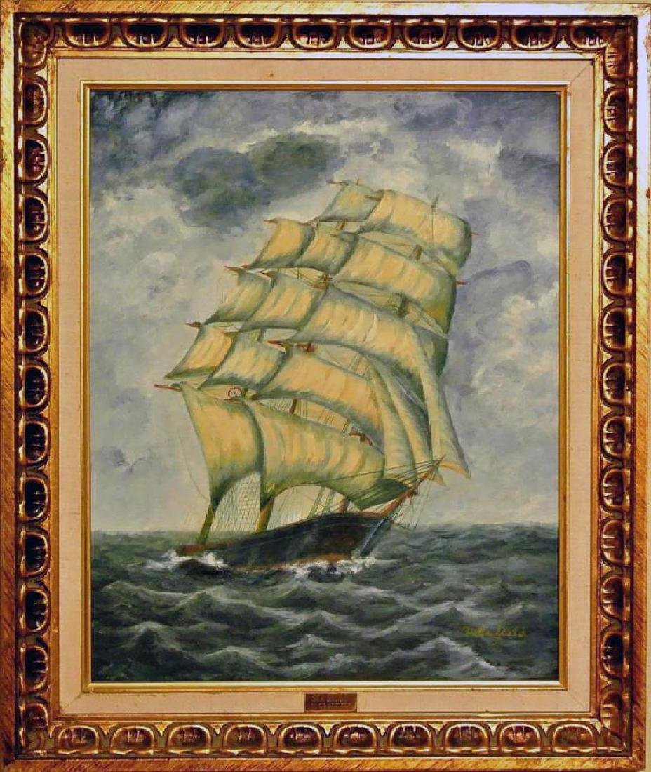 "Marine Oil Painting by Michael Bradfield Entitled ""Sea"