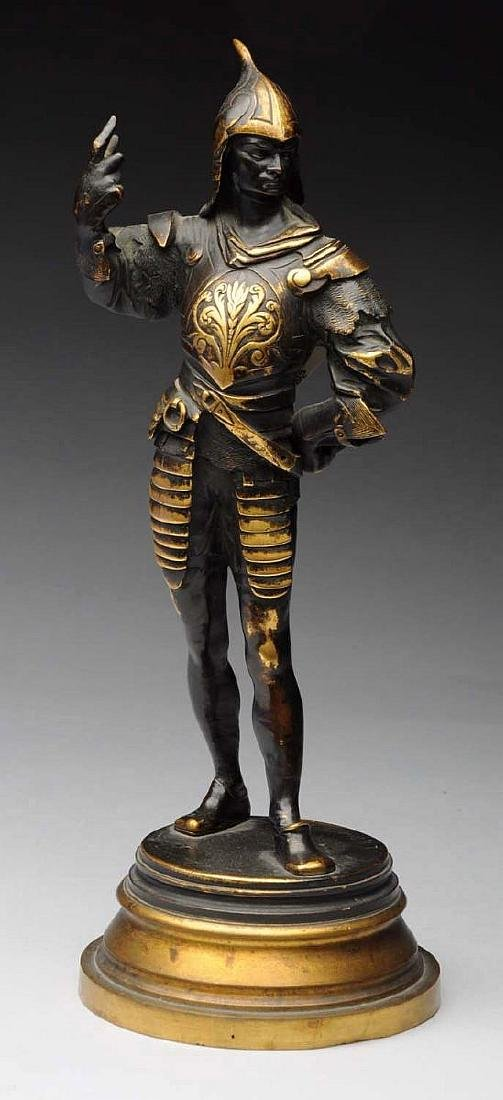 19th Century French Bronze Sculpture of a Knight by
