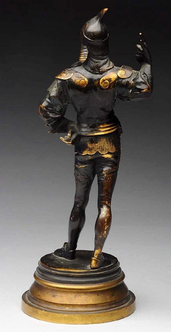 19th Century French Bronze Sculpture of a Knight by - 2