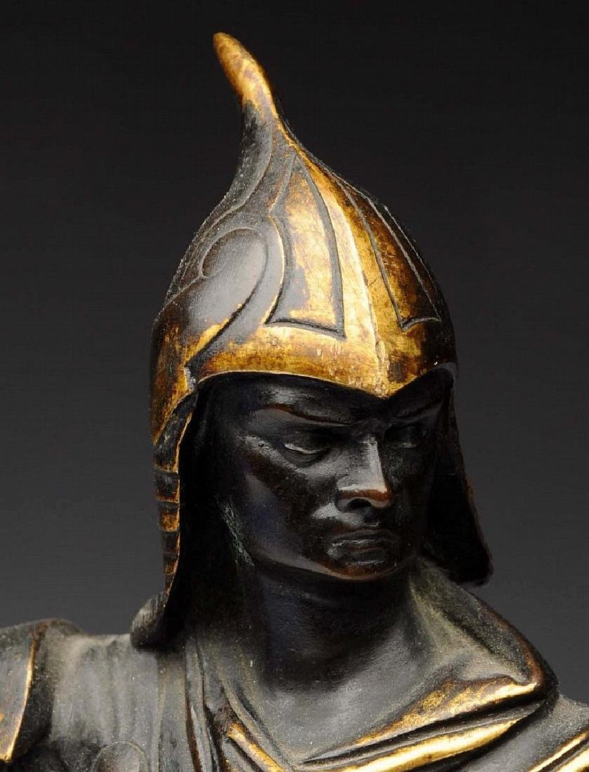 19th Century French Bronze Sculpture of a Knight by - 3