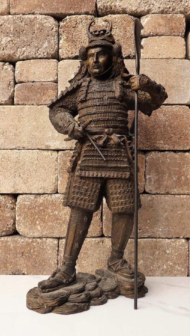 Large Bronze Sculpture of a Samurai Warrior