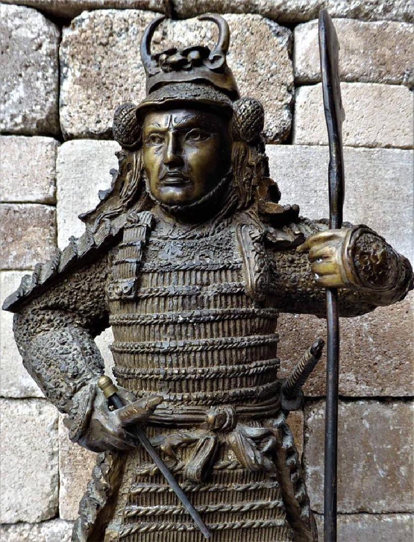 Large Bronze Sculpture of a Samurai Warrior - 2