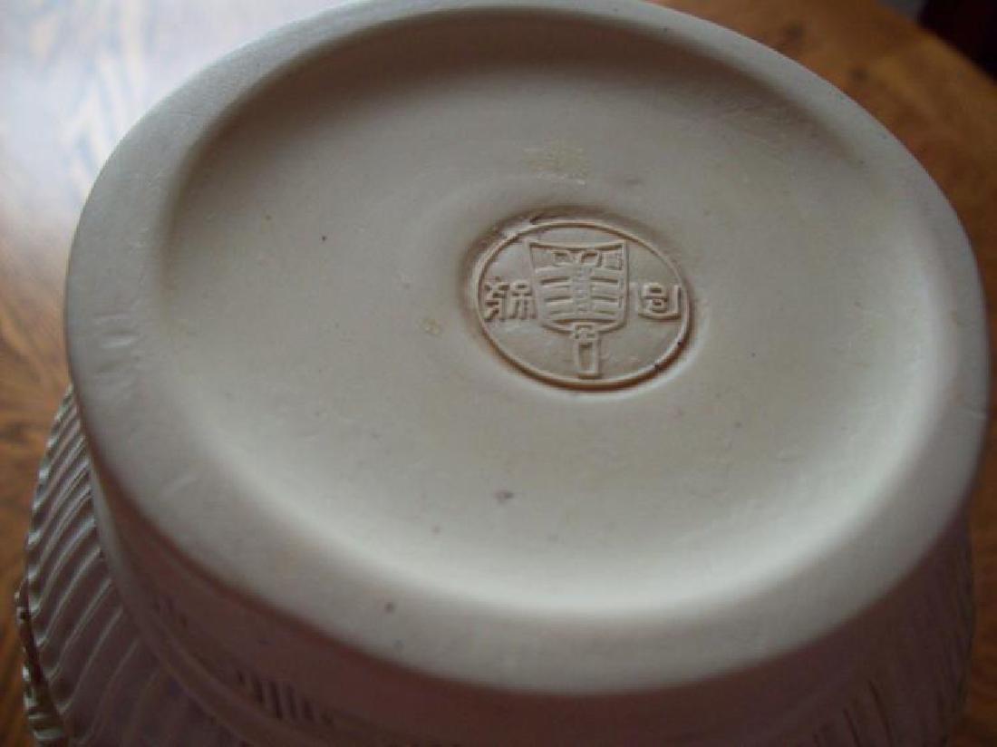 Hand Carved Ornate Hallmarked Chinese Cinnabar Vase - 9