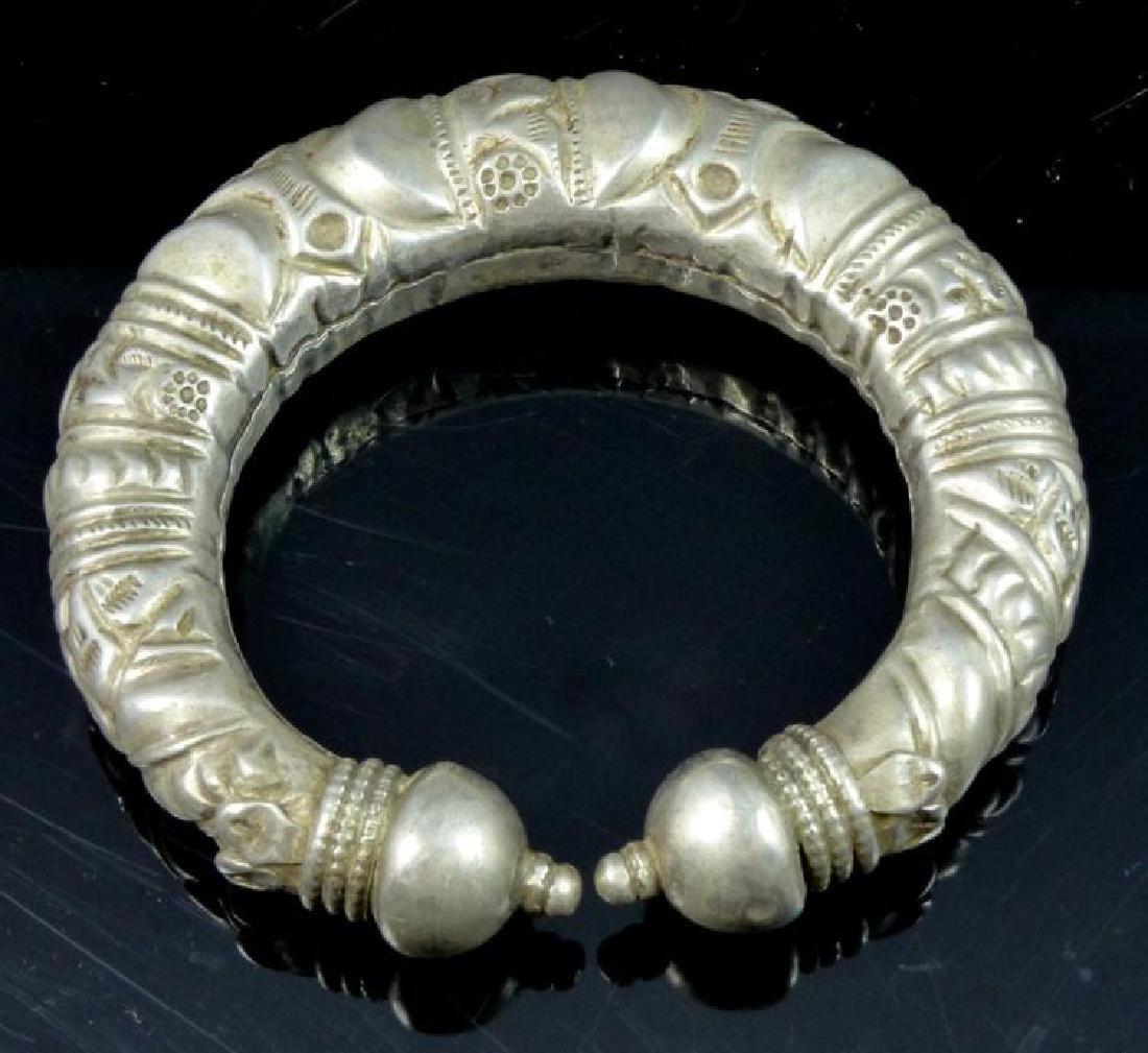 Antique Tibetan Silver Cuff Bracelet
