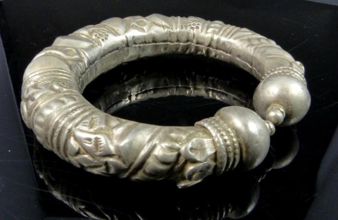 Antique Tibetan Silver Cuff Bracelet - 4