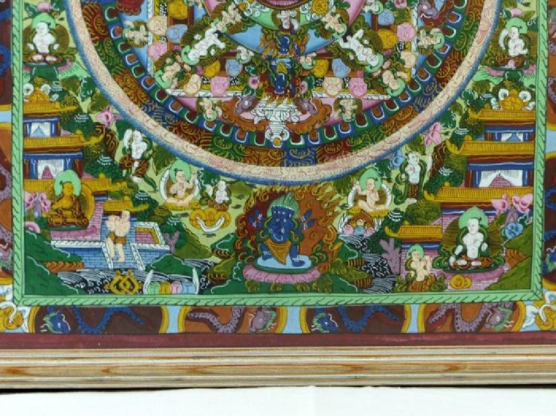 Original Tibetan Mandala Thanka Painting on Silk - 3