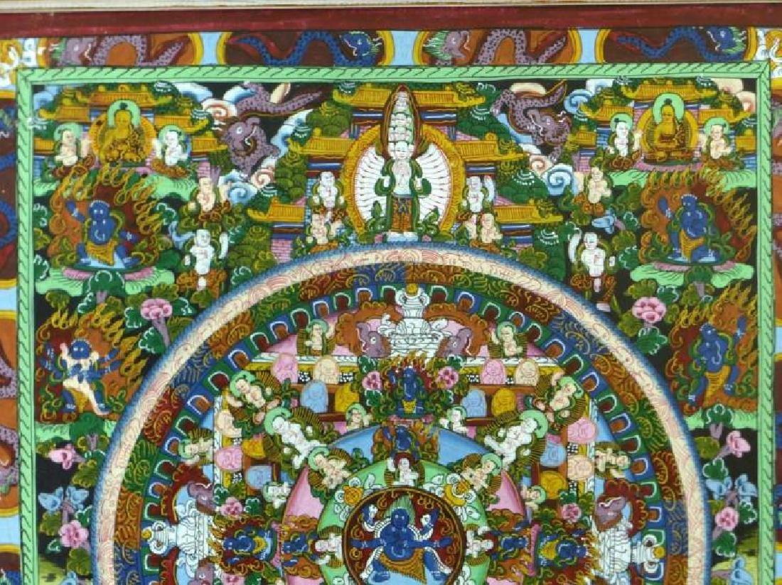 Original Tibetan Mandala Thanka Painting on Silk - 4