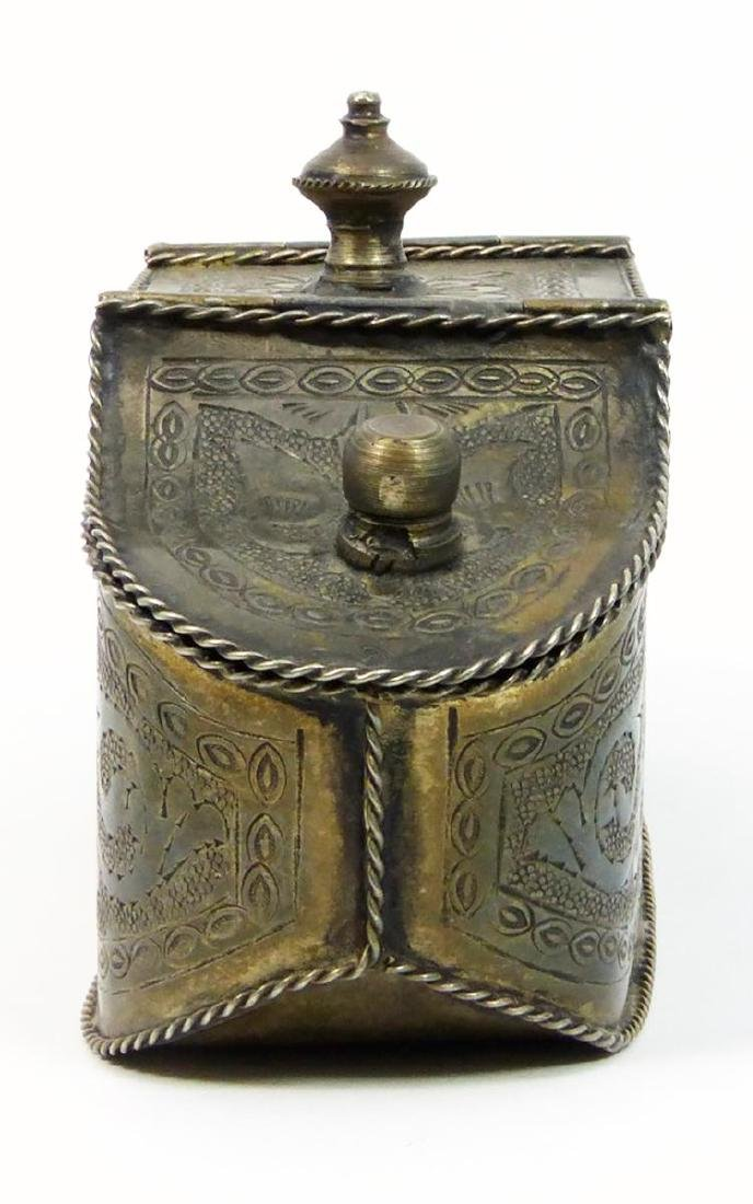 Antique Thai Genuine Gilded Silver Hand Chased Tea - 5