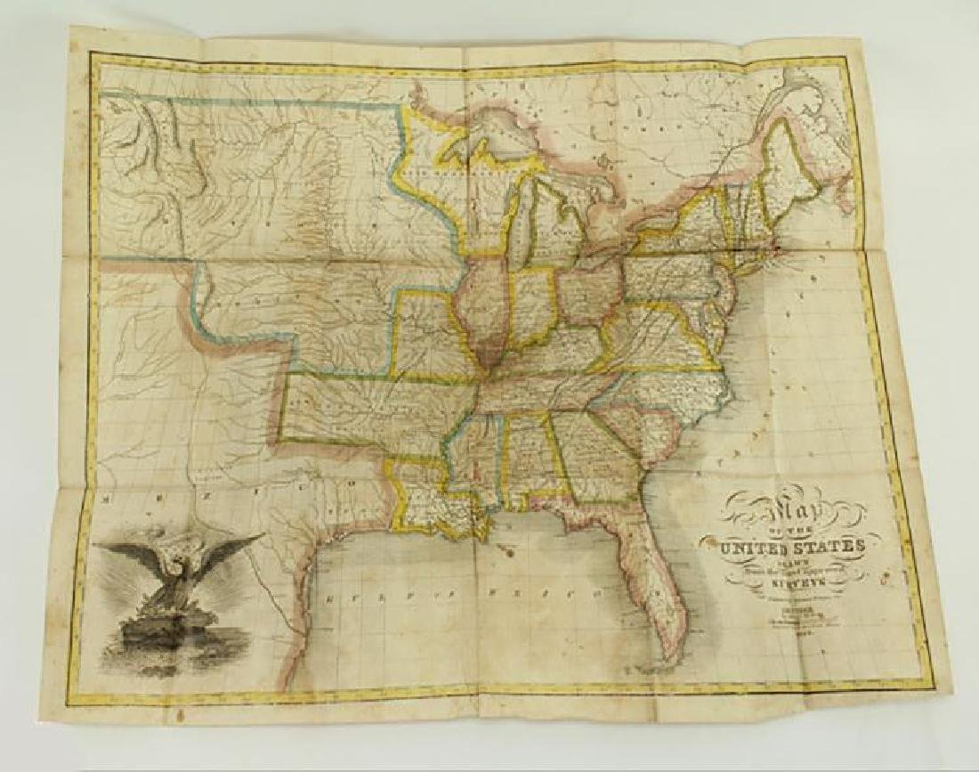 Map of the United States Solomon Schoyer 1826 Engraving