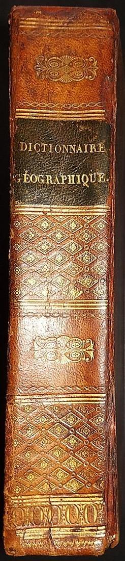 Antique Leather Book - Vosgien, Jean Baptiste Ladvocat