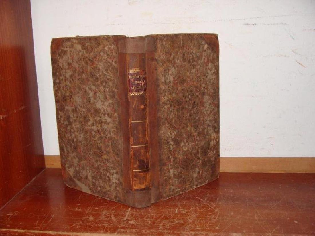 Rare 18th Century Leather Bible Commentary Dated 1766