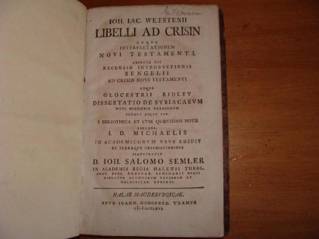 Rare 18th Century Leather Bible Commentary Dated 1766 - 2
