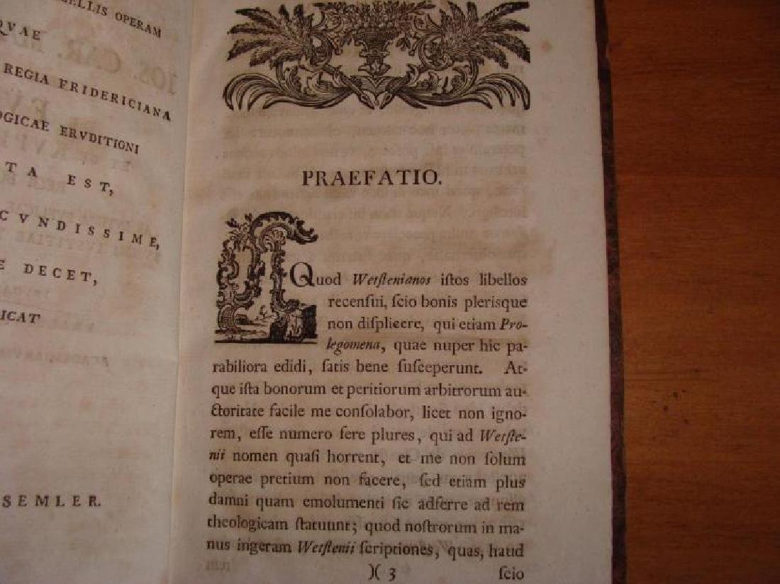 Rare 18th Century Leather Bible Commentary Dated 1766 - 3