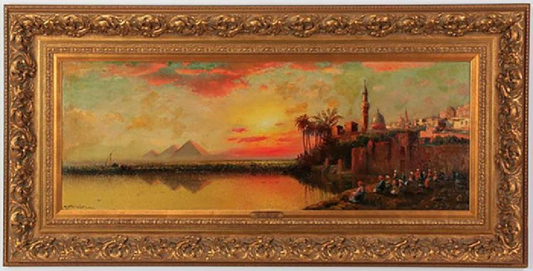 Richard De Ribcowsky Large Panoramic Oil Painting