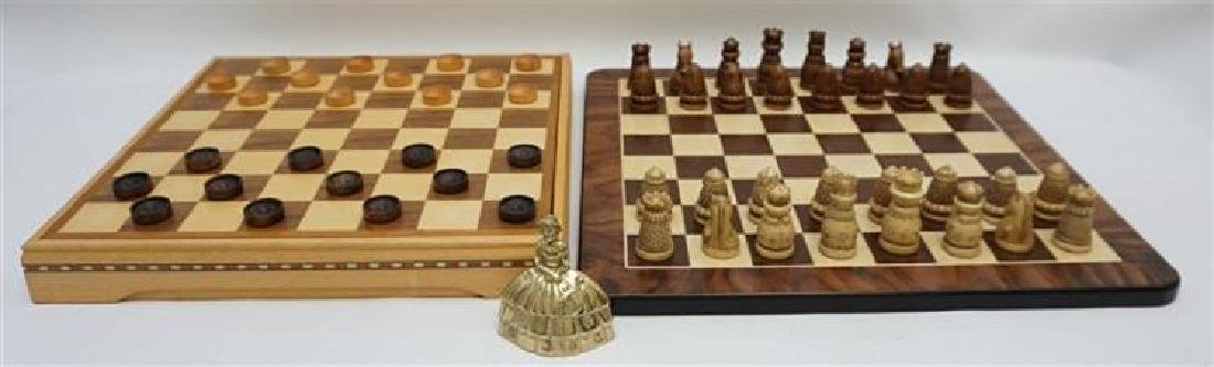 Medieval Chess / Checker Set With Extra Wood Board - 5