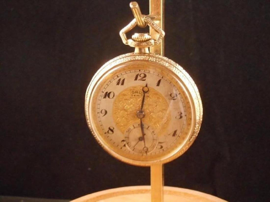 Antique Gruen Swiss Made Open Faced Pocket Watch