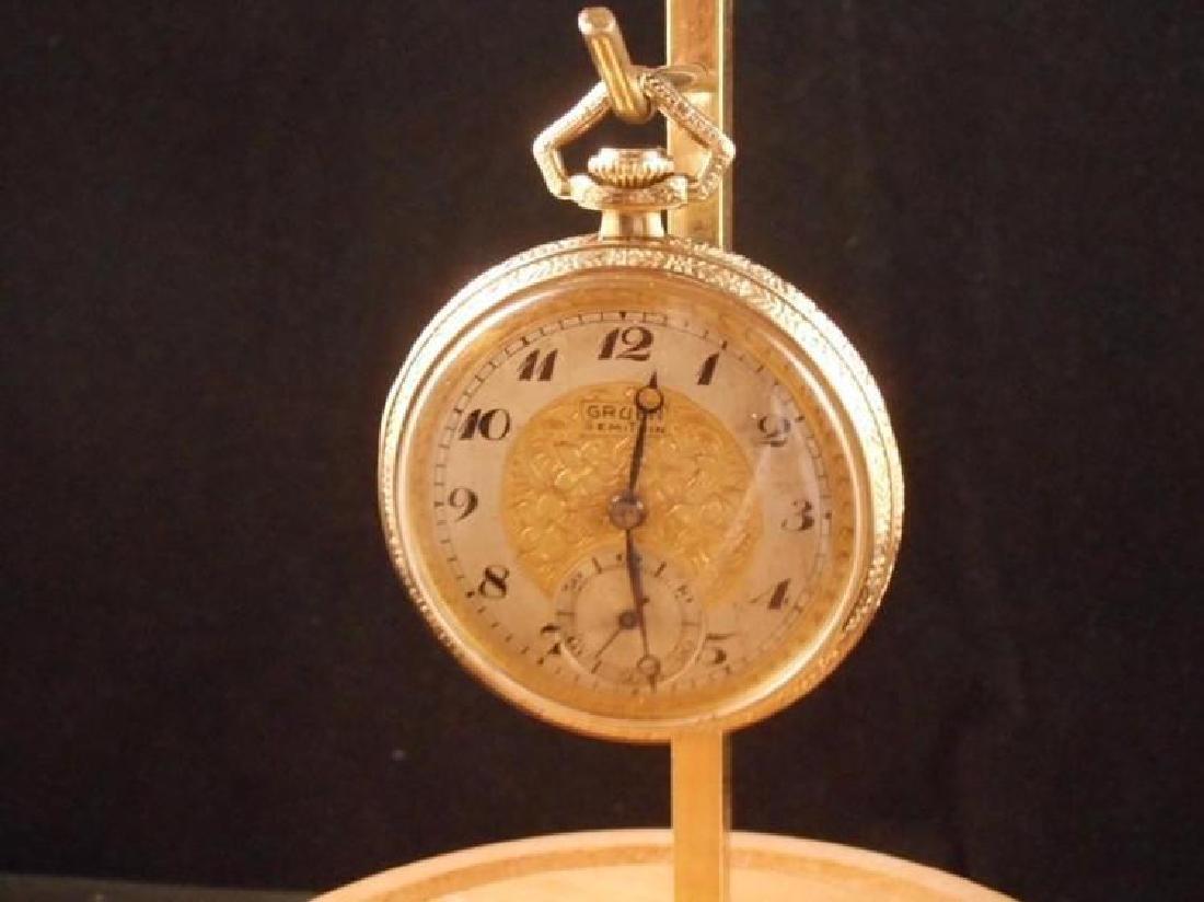 Antique Gruen Swiss Made Open Faced Pocket Watch